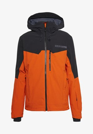 UNTRACKED - Ski jacket - red orange/black/heather