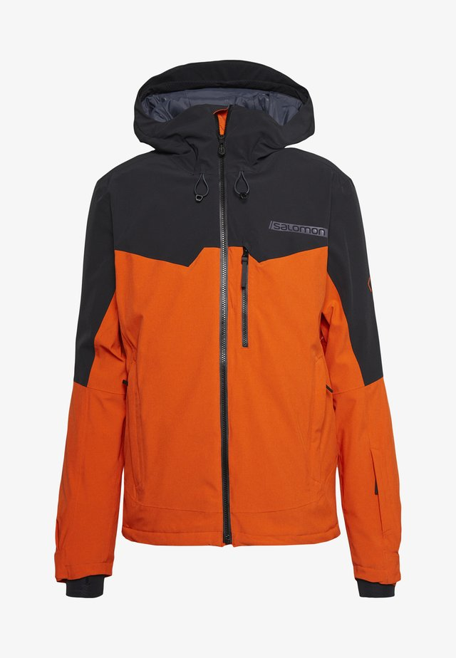 UNTRACKED - Ski jas - red orange/black/heather