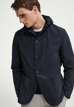 MIT KAPUZE  - Summer jacket - blue-black denim