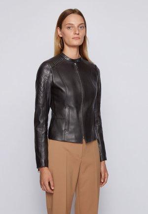 SADENO - Leather jacket - black