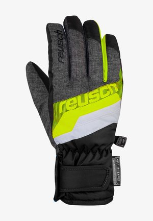 DARIO R-TEX® XT  - Gloves - black melange/safety yell