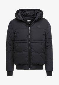 WIDE NECK PUFFER - Light jacket - black