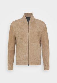 Theory - FLETCHER - Leather jacket - dark bark/asphalt - 4