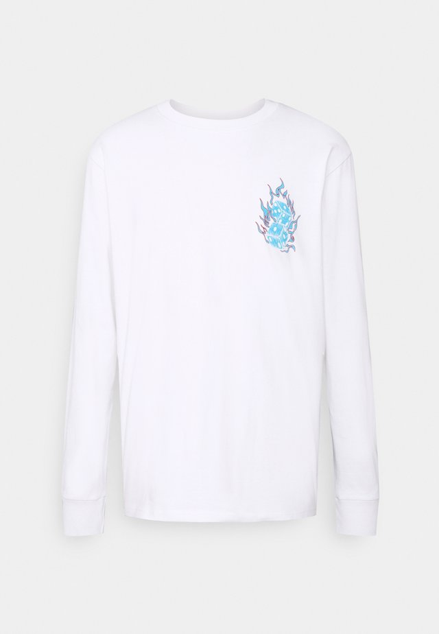 FRONT AND BACK GRAPHIC LONG SLEEVE TEE - Printtipaita - white