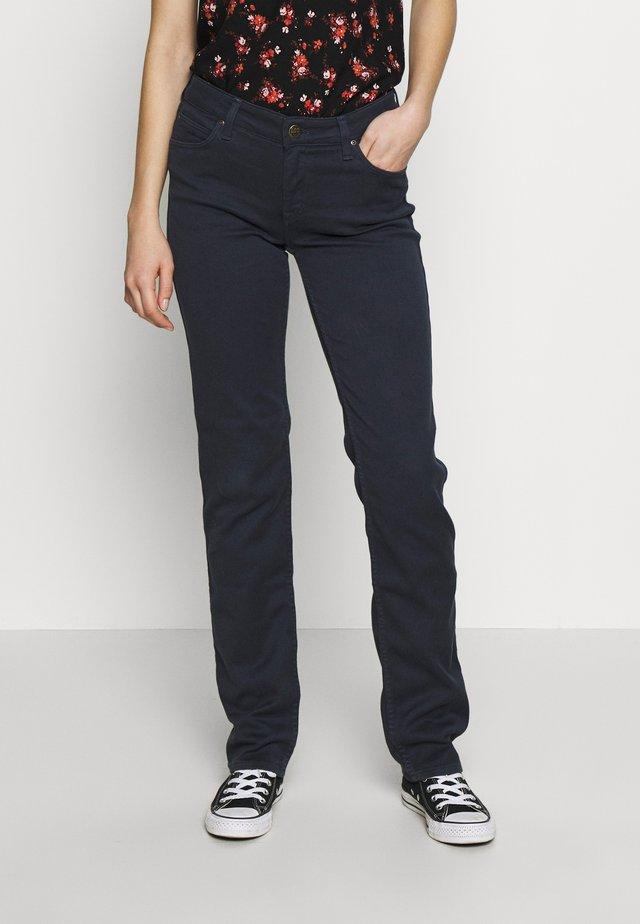 MARION STRAIGHT - Spodnie materiałowe - dark marine