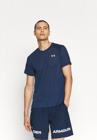Under Armour - STREAKER - T-shirt - bas - dark blue - 7