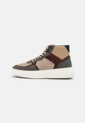 LASH MID BLK W - High-top trainers - sand/red brown