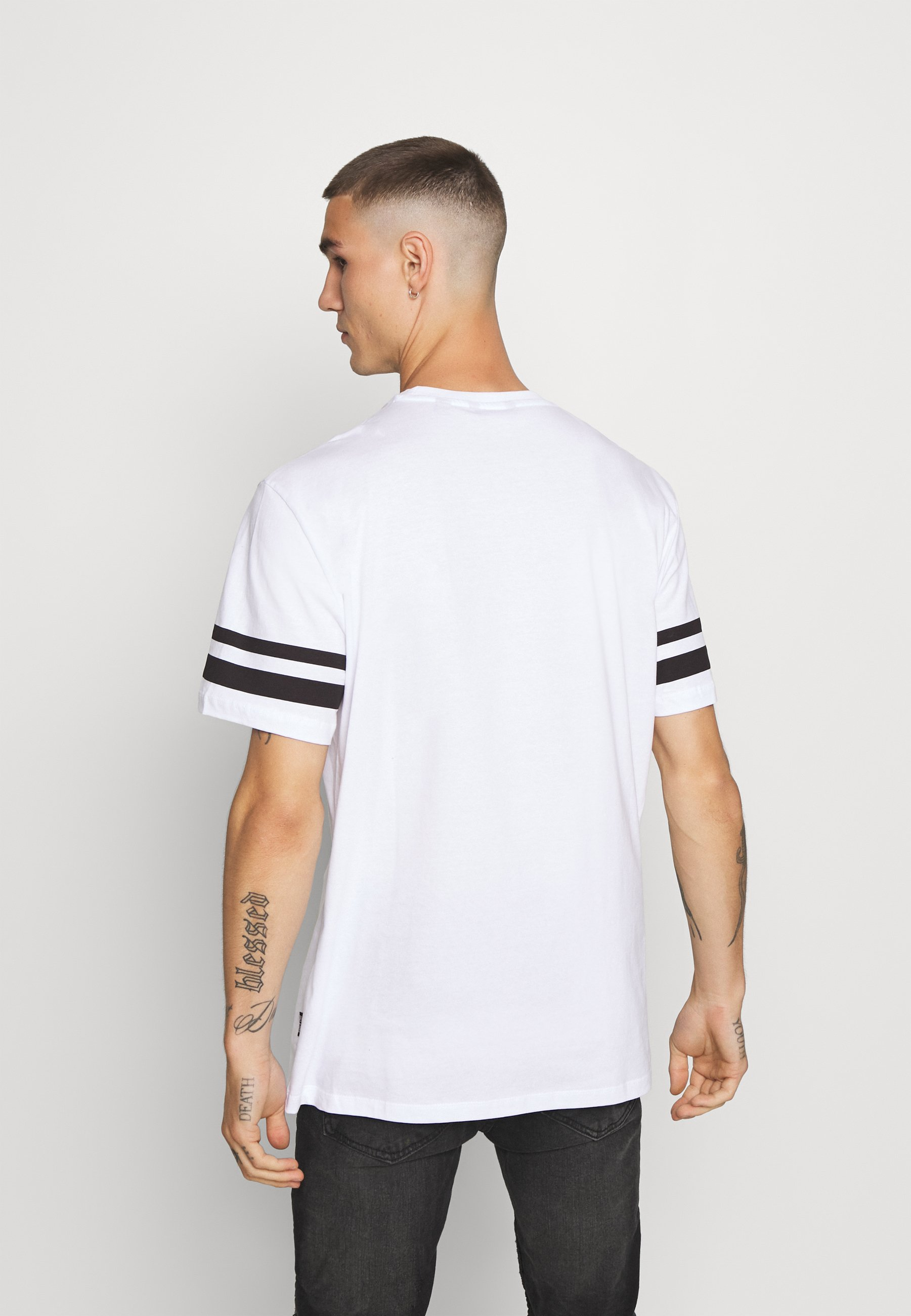 Only & Sons ONSNASA STRIPE TEE - Print T-shirt - white 9wWjL