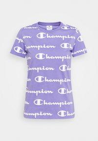 Champion - CREWNECK - T-shirt con stampa - lilac/white - 0