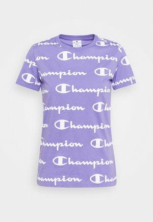 CREWNECK - T-shirt print - lilac/white