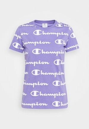 CREWNECK - T-shirts med print - lilac/white