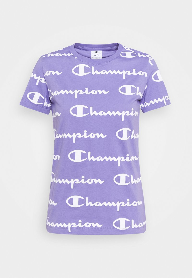 Champion - CREWNECK - T-shirt con stampa - lilac/white