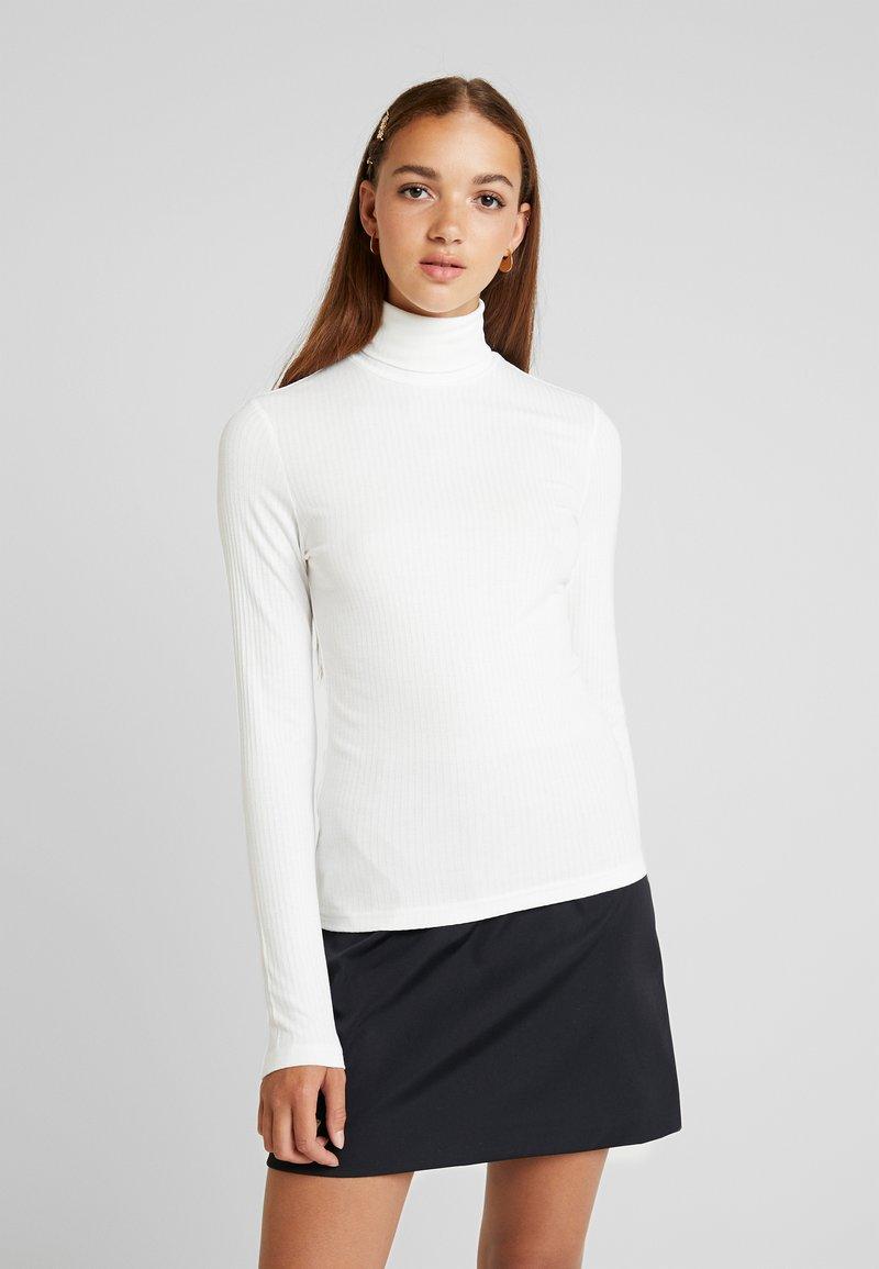 Monki - ELIN POLO - Maglietta a manica lunga - offwhite