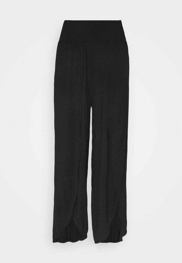 WRAP SPLIT PANT - Spodnie treningowe - black