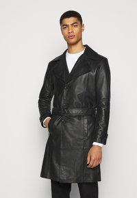 STUDIO ID - CHRISTIAN LEATHER COAT - Leather jacket - black - 3