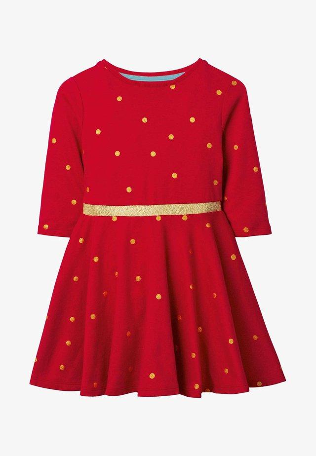 Jersey dress - mottled red
