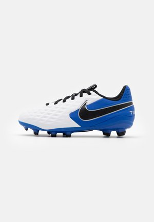 JR TIEMPO LEGEND 8 ACADEMY MG UNISEX - Moulded stud football boots - white/black/hyper royal/metallic silver