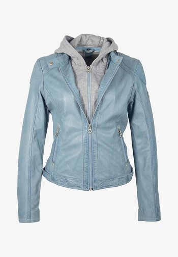 AELLY LAMAS - Leather jacket - light blue