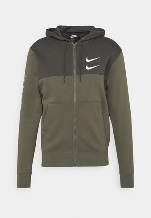 HOODIE - Felpa aperta - twilight marsh/white