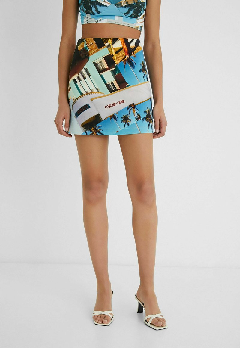 Desigual - DESIGNED BY ESTEBAN CORTAZAR - Mini skirt - blue