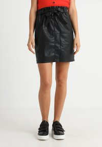 ONLY - Leather skirt - black - 0