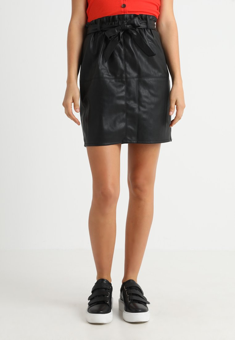ONLY - Leather skirt - black