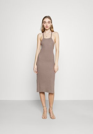 LAYA KNIT DRESS - Day dress - mocha