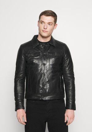 MINT - Leather jacket - black