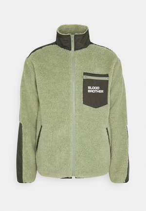 BEAUVOIR UNISEX - Fleecejacka - green/beige