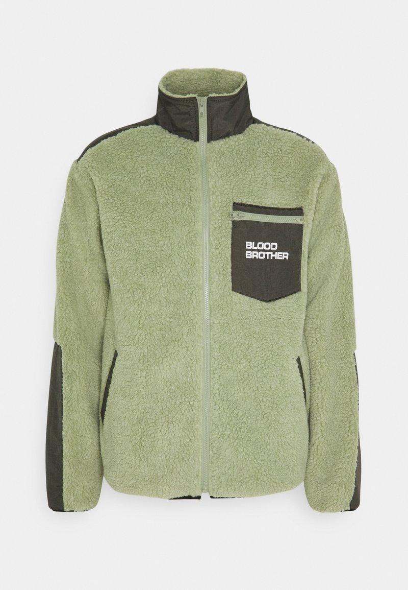 Blood Brother - BEAUVOIR UNISEX - Fleecetakki - green/beige