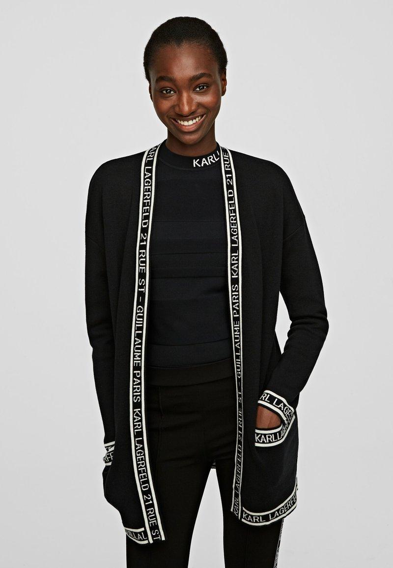 KARL LAGERFELD - Cardigan - black