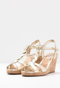 Dune London WIDE FIT - WIDE FIT KOALA - High heeled sandals - gold - 4