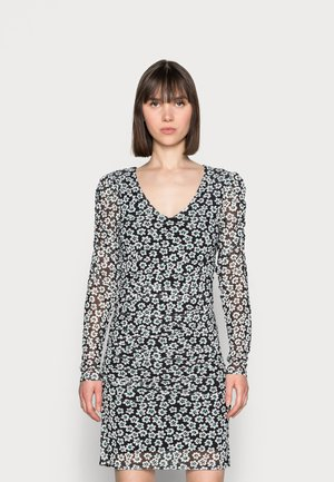 MARIE DRESS - Shift dress - black/emerald