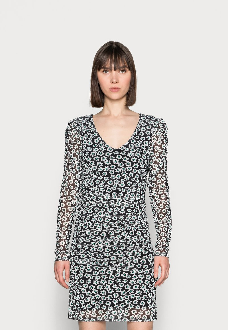 Fabienne Chapot - MARIE DRESS - Shift dress - black/emerald