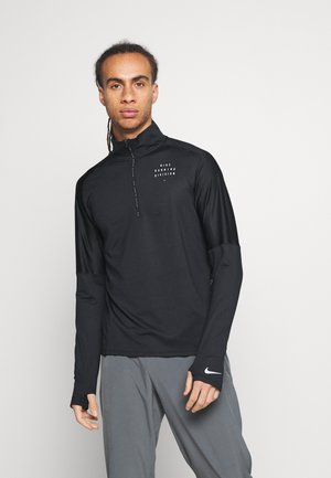 RUN DIVISION FLASH - Sports shirt - black/reflective silver