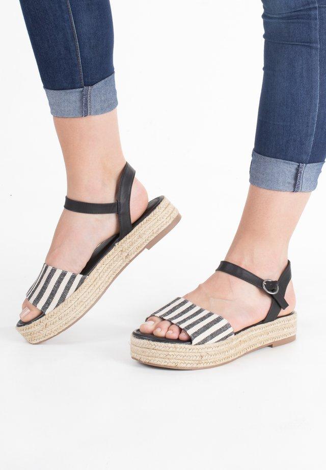 ESPEE OLYMPUS - Korkeakorkoiset sandaalit - black