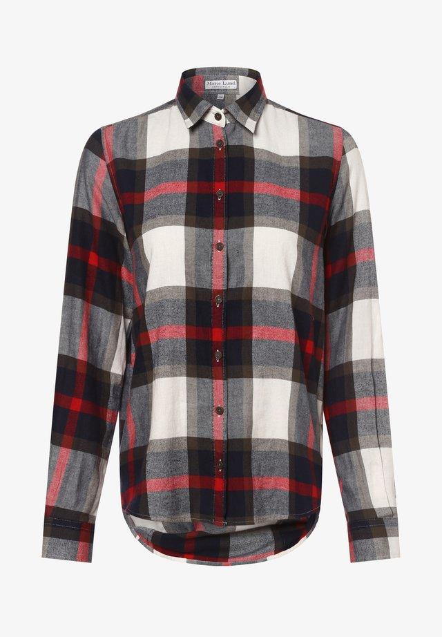 Button-down blouse - marine khaki