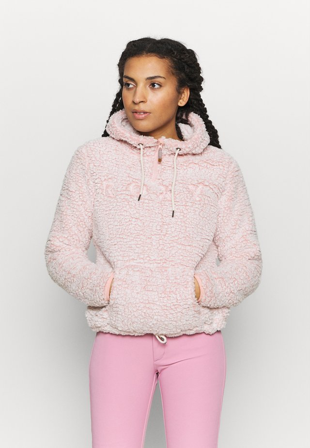 PLUMA SHERPA  - Bluza z kapturem - dusty rose