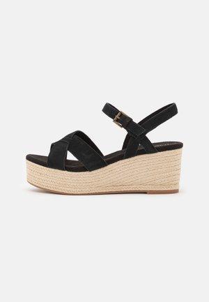 WILLOW - Platform sandals - black