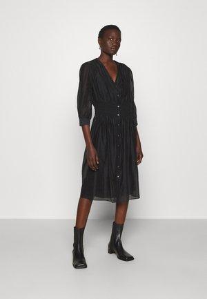 DRESS SMOCKING WAIST - Day dress - black
