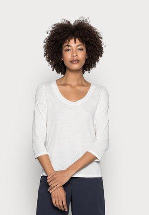 Top sdlouhým rukávem - cotton white