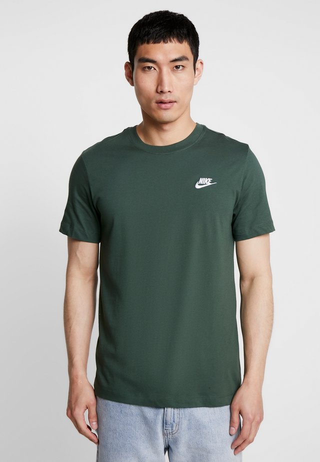 CLUB TEE - Basic T-shirt - galactic jade/white