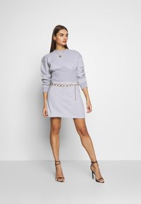 Missguided - OVERSIZED CORSET DRESS - Vestido informal - grey marl - 1