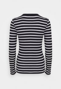 Tommy Hilfiger - SKINNY OPEN  - Long sleeved top - desert sky/white