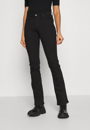 HOXIE - Bootcut jeans - black rinse