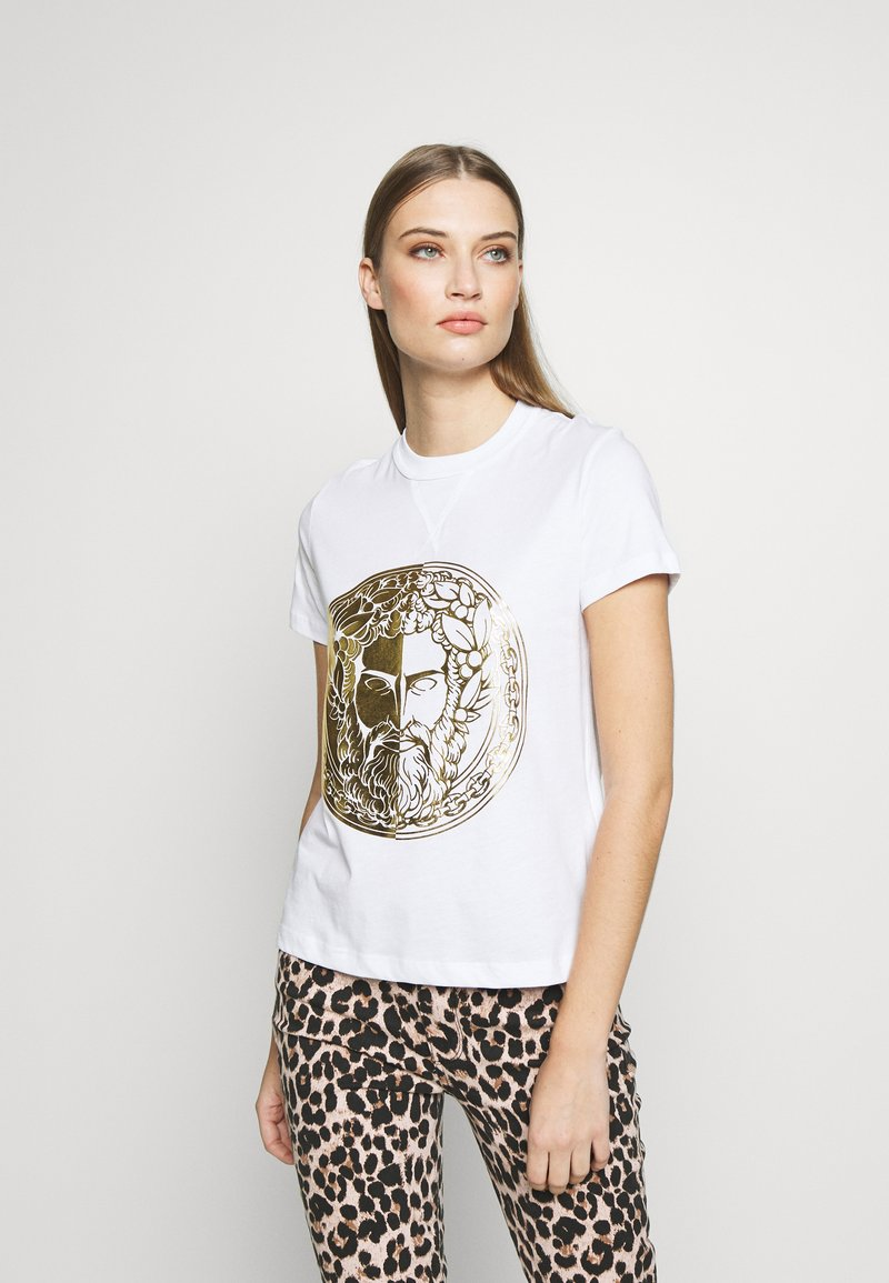 Versace Jeans Couture - T-shirts med print - white/gold