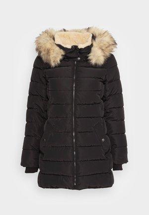 ONLCAMILLA QUILTED COAT - Abrigo de invierno - black/nature