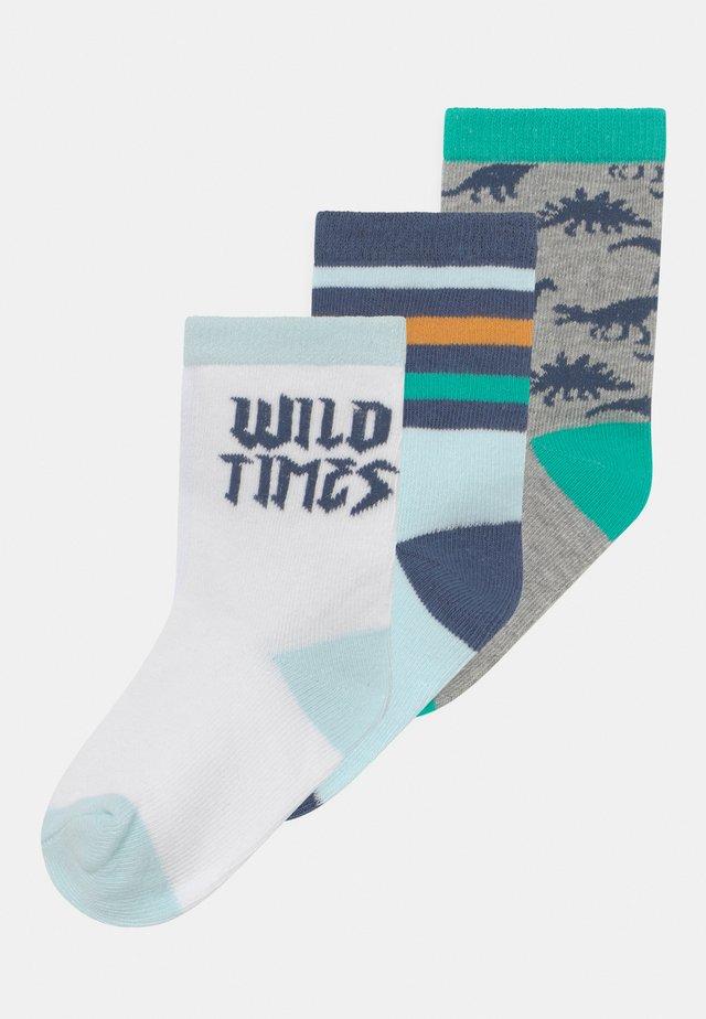 CREW 3 PACK - Ponožky - blue
