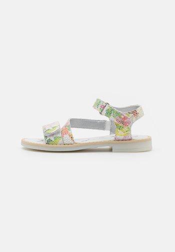 Sandals - bianco/fucsia/verde