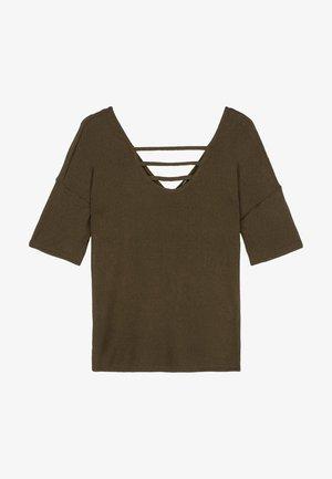 Print T-shirt - military green